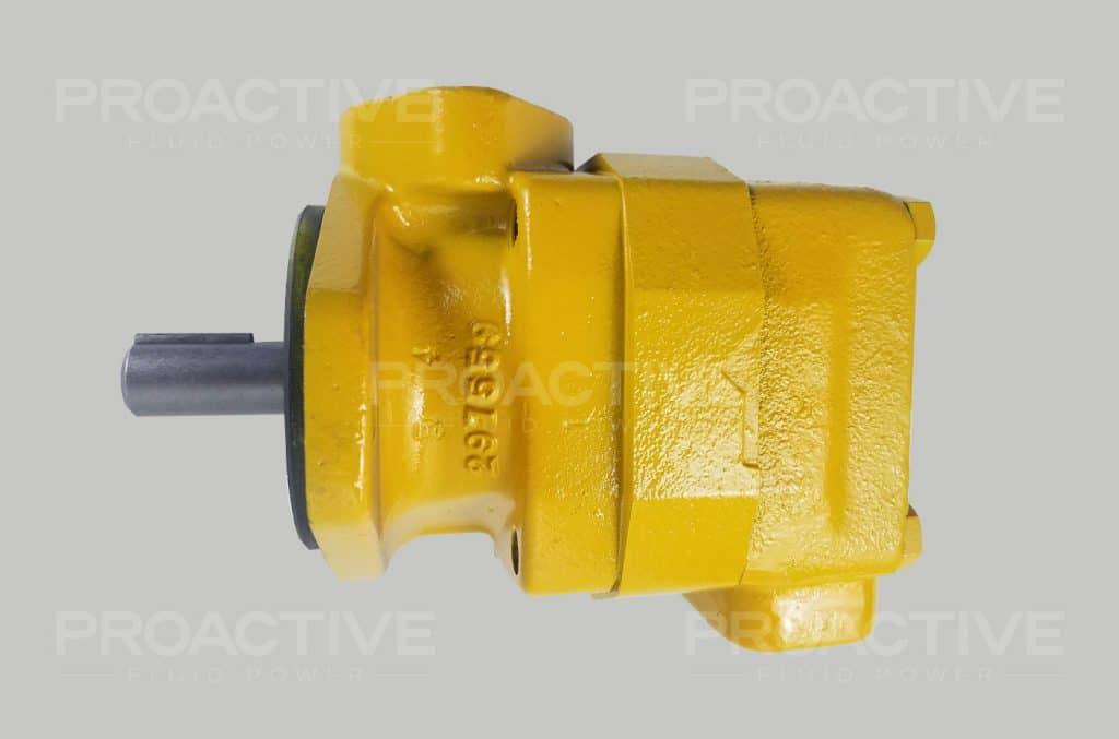 Yellow Vickers V30 vane pump.